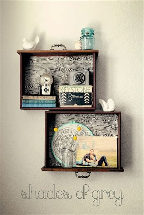 Turn Shelves Into Drawers by 14 Fabulous Ways To Repurpose Drawers Crafts A La Mode