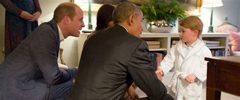 obama s prince george stays up to meet the obamas at kensington