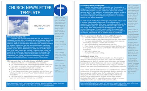 free christian newsletter templates best church newsletter template 10 free sle exle