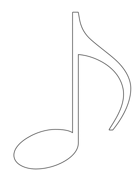 Colouring Pics Of Music Notes Clipart Best Notes Coloring Page