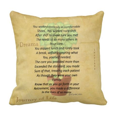 Poems About Pillows by Retired Poem Pillow By Gail Gabel Rn At Zazzle Ca