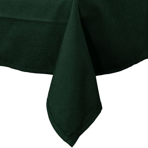 Green Forest Table Cloth 110160 54 quot x 120 quot forest green hemmed polyspun cloth table cover