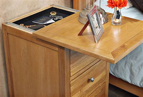 nightstand plans  hidden compartment woodworking