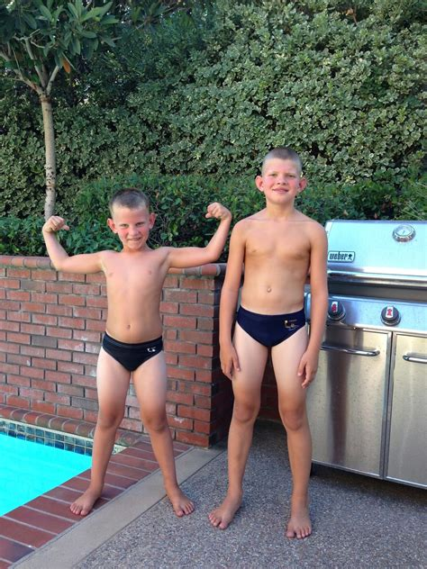 cute little boys in speedos more than a mom lucky number seven