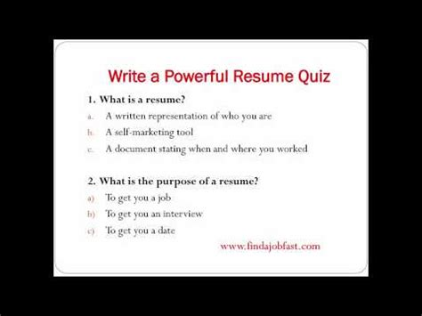 how to write a powerful resume to find a fast