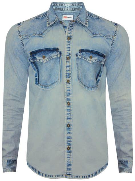 Denim Washed Shirt nologo light blue washed denim shirt nologo ds 007