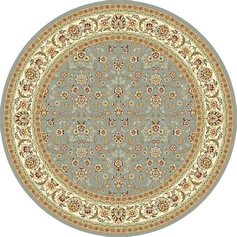 Safavieh Lyndhurst Light Blue Ivory 8 Ft X 8 Ft Round 8ft Rugs