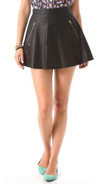 free vegan leather circle skirt shopbop