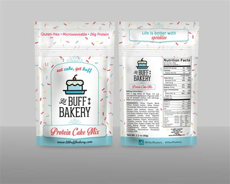 design mix is modern playful packaging design for lil buff bakery by