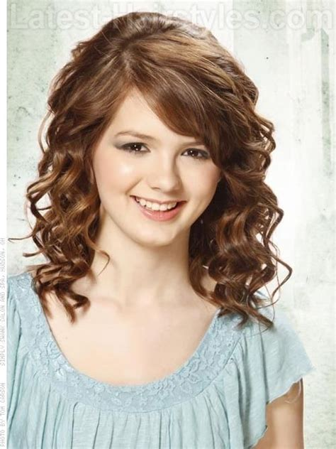 curly hairstyles with bangs low maintenance hairstyles