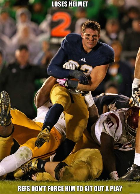 Notre Dame Meme - college football s ridiculously photogenic guy sbnation com
