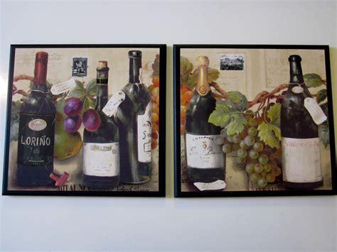 wine bottle kitchen decor wine bottles grapes kitchen wall decor 2 plaques italian bistro tuscany signs ebay