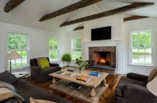 Farmhouse Livingroom by Massachusetts Farm House Farmhouse Living Room New