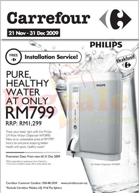 Dispenser Carrefour carrefour philips uv water dispenser promotion home