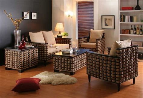 wicker furniture adding cottage decor feel  modern