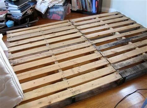 diy size pallet bed frame 13 inexpensive wooden pallet bed frame 101 pallets