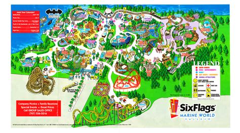 six flags vallejo map six flags discovery kingdom 2001 park map