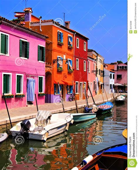 colorfu houses painting colorful burano italy royalty free stock photos image
