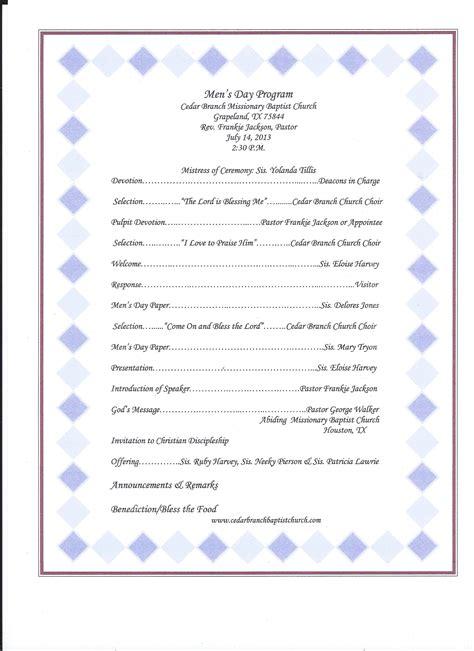 Cedarbranchbaptist Men S Day Program 7 14 2013 Jpg Baptist Church Program Templates