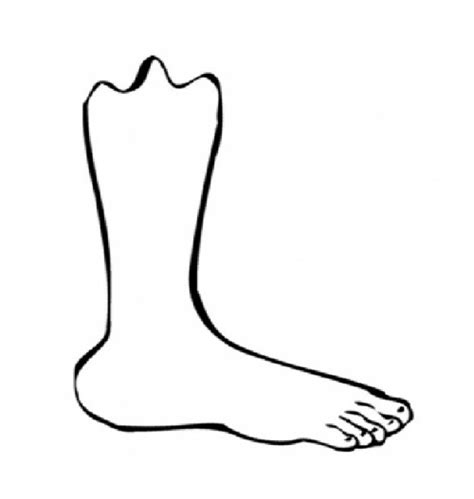 Foot Coloring Sheet Coloring Pages Foot Coloring Pages