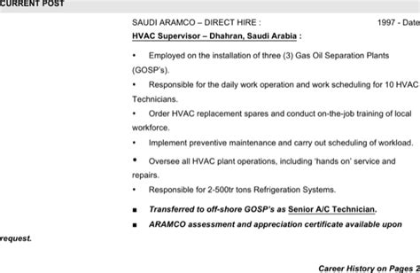 Download Hvac Supervisor Resume Free Word Downlaod For Free Page 2 Formtemplate Hvac Sequence Of Operation Template