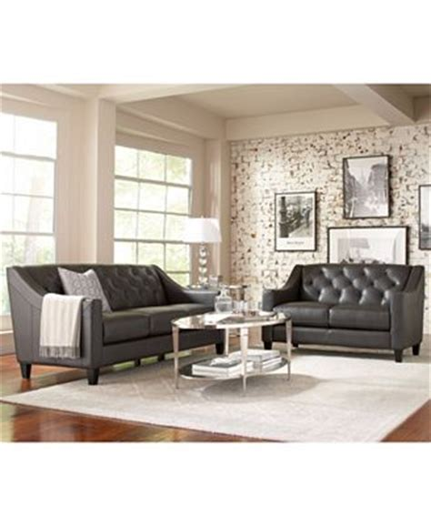 macys living room furniture claudia ii leather sofa living room furniture collection