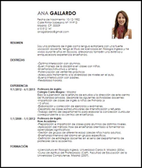 Modelo Curriculum Vitae Profesor Ingles Modelo Curriculum Vitae Profesor De Lengua Extranjera Livecareer