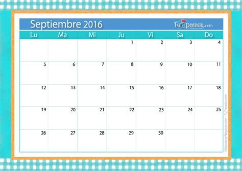 calendario septiembre 2016 para imprimir gratis calendario septiembre 2016 calendarios mensuales tarjetas
