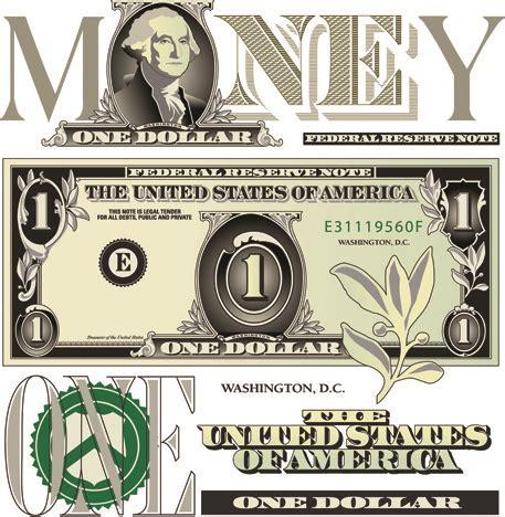 money design template vector money with dollars design template free vector in