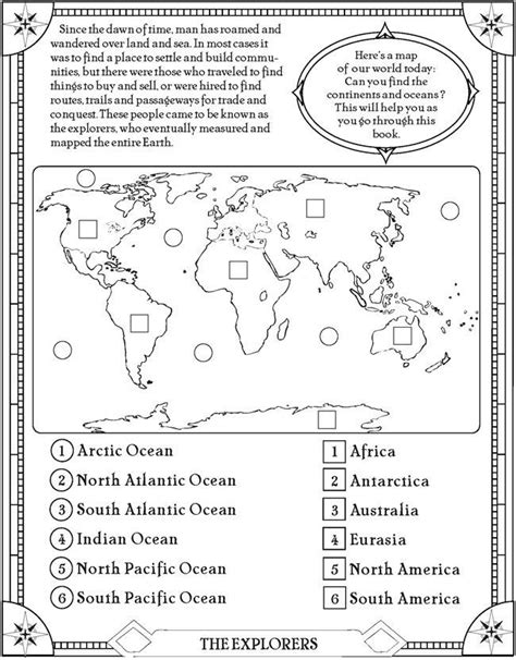 biography lesson plans year 5 find the oceans and continents page free printable