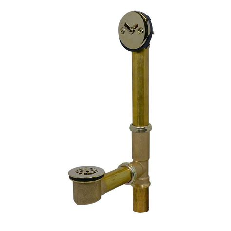 bathtub drain lever swiftflo brass adjustable trip lever drain in polished