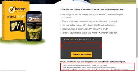 norton mobile free trial get free 1 year norton mobile security geekact