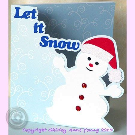 snowman card template shirley s cards snowman card
