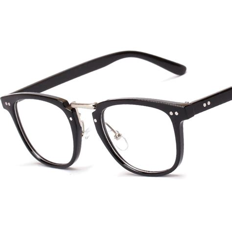 plastic metal rectangle fashion optics glasses frame