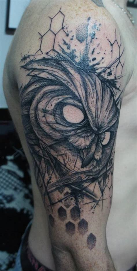 abstract owl tattoo owl tattoos askideas