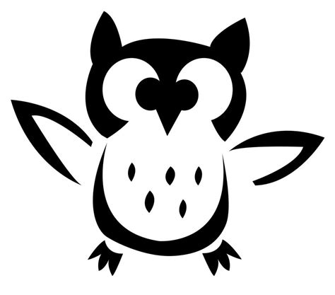 printable scary owl what a hoot owl template for pumpkin carving diy free