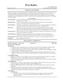 nursing personal statement resume exles best template