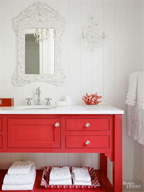 bathroom with red accents coastal bathroom pins tuvalu home