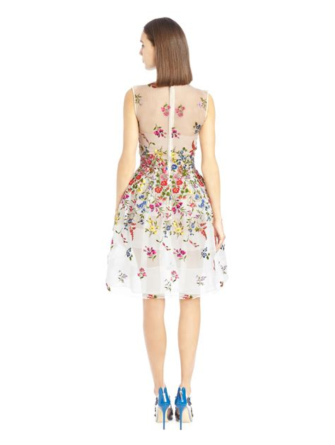Garden Embroidered Dress Oscar De La Renta Garden Embroidered Silk Organza