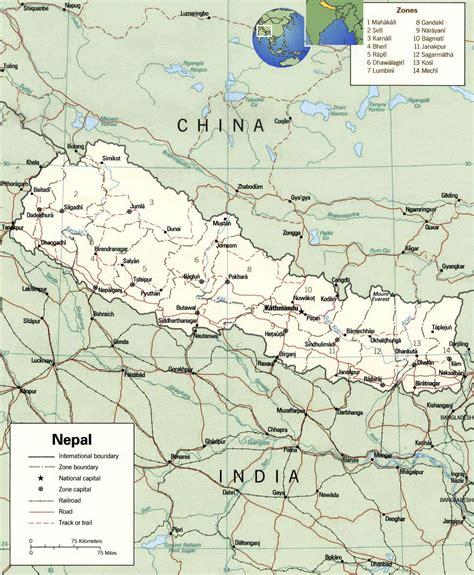 nepal on map nepal political map political map of nepal nepal administartive map