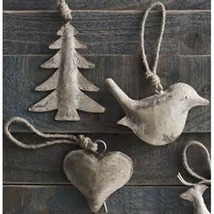 roost rustic silver christmas ornament from elizabeth s