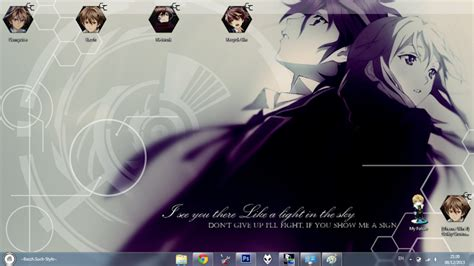 download theme windows 7 guilty crown theme win 7 ouma shu guilty crown by bazzh themes