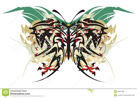 Aquila Tribal Set tribal butterfly splashes with eagle claws stock vector