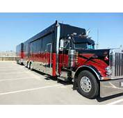 Black And Red Peterbilt RV With Matching Trailer  Pinterest