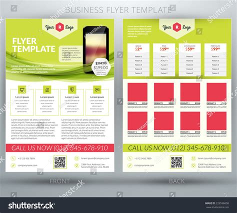 Brochure With Application by Vector Business Flyer Brochure Design Template Stock Vector 229598608