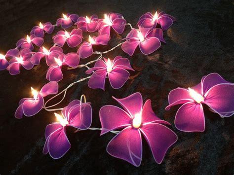 flower lights decorative string lights for bedroom with pink flowers