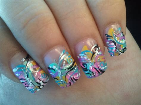funky nail design by grlwonder on deviantart
