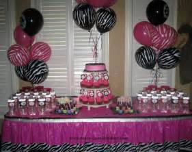 zebra print decorations tales birthday zebra print and pink