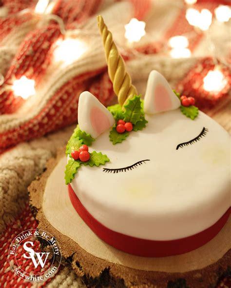 unicorn christmas cake       christmas