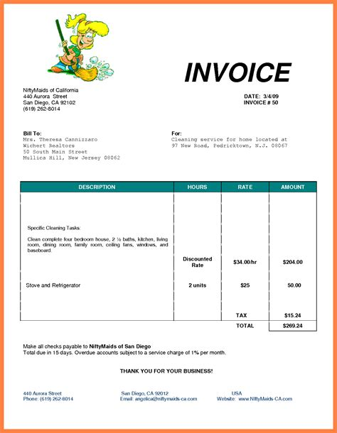 Invoice Template Open Office Invoice Sle Template Office Billing Template